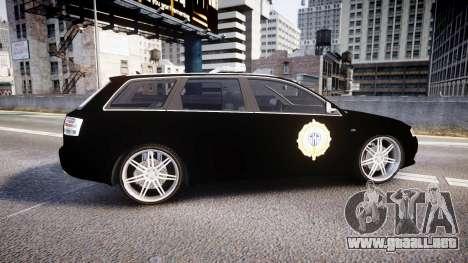 Audi S4 Avant Serbian Police [ELS] para GTA 4 left