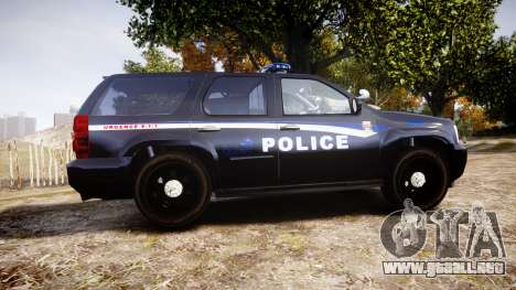 Chevrolet Tahoe SPVQ [ELS] para GTA 4 left