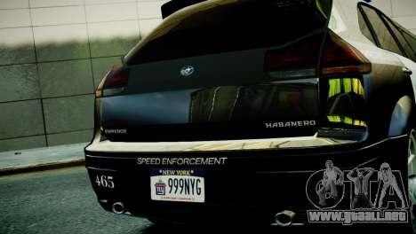 Subaru Impreza WRX STI Police para GTA 4 visión correcta