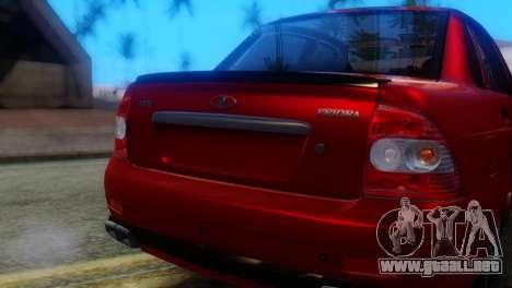 VAZ 2170 AMG para GTA San Andreas vista hacia atrás