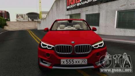 BMW X5 F15 2014 para GTA San Andreas left