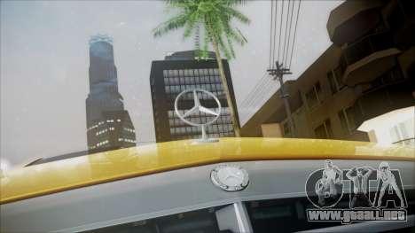 Mercedes-Benz E63 para GTA San Andreas vista hacia atrás