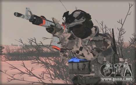 BF3 Soldier para GTA San Andreas sucesivamente de pantalla