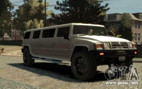 Mammoth Patriot Limousine para GTA 4 visión correcta