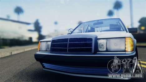 Mercedes-Benz 190E (W201) para GTA San Andreas vista posterior izquierda