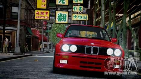 BMW M3 E30 para GTA 4 vista hacia atrás