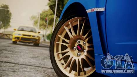 Subaru Impreza WRX STI 2008 PJ para la visión correcta GTA San Andreas