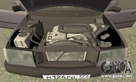 Mercedes-Benz W124 E200 para visión interna GTA San Andreas