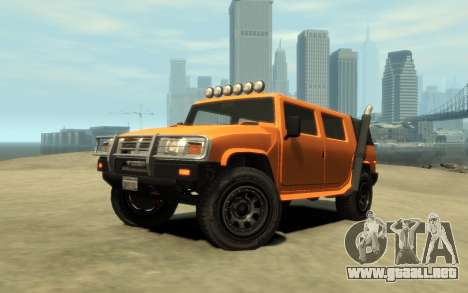 Mammoth Patriot Pickup v2 para GTA 4 vista interior