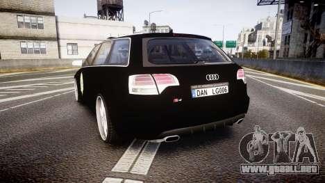 Audi S4 Avant Serbian Police [ELS] para GTA 4 Vista posterior izquierda
