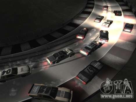 Nuevas texturas de la pista 8 Pista para GTA San Andreas sucesivamente de pantalla