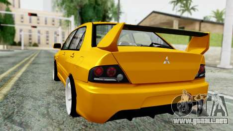 Mitsubishi Lancer Evolution IX para GTA San Andreas left
