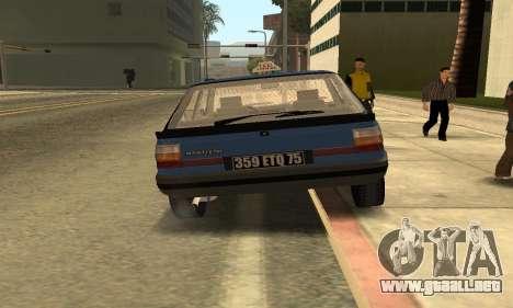 Renault 11 TXE Taxi para GTA San Andreas vista hacia atrás