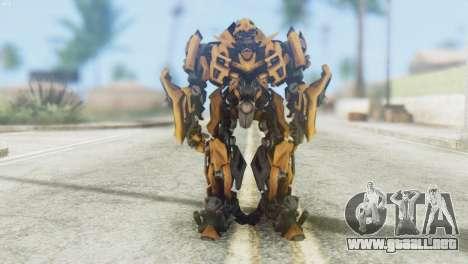Bumblebee Skin from Transformers v2 para GTA San Andreas segunda pantalla