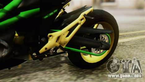 Kawasaki Z800 Modified para GTA San Andreas vista hacia atrás