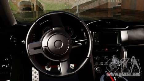 Toyota GT86 (ZN6) 2012 PJ para la visión correcta GTA San Andreas