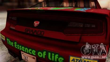 GTA 5 Bravado Buffalo Sprunk HQLM para GTA San Andreas vista hacia atrás