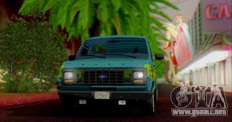 Ford E-150 Scooby Doo para GTA San Andreas left