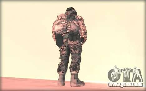 BF3 Soldier para GTA San Andreas segunda pantalla
