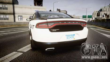 Dodge Charger SXT AWD 2015 PPV [ELS] para GTA 4 Vista posterior izquierda