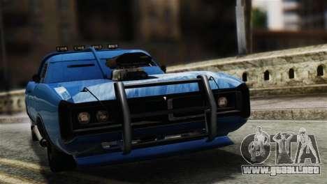 GTA 5 Imponte Dukes ODeath para GTA San Andreas vista posterior izquierda