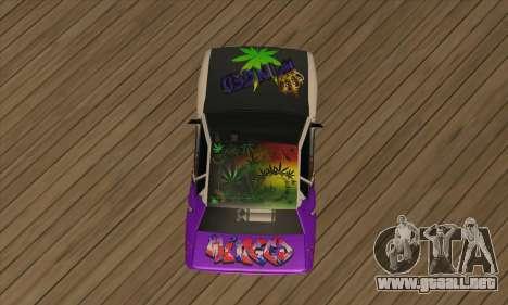 Vinilo Alado. para GTA San Andreas vista hacia atrás