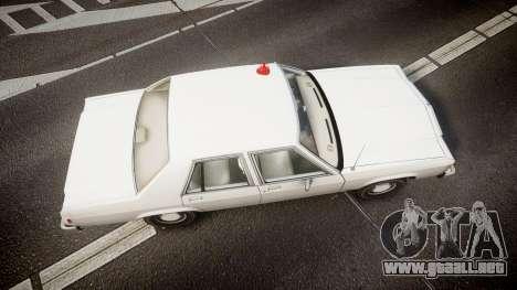 Ford LTD Crown Victoria 1987 Detective [ELS] para GTA 4 visión correcta