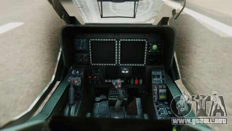 Changhe WZ-10 para GTA San Andreas vista hacia atrás