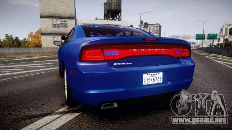 Dodge Charger SWAT Tactical Unit [ELS] bl para GTA 4 Vista posterior izquierda
