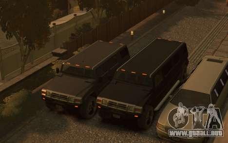 Mammoth Patriot Limousine para GTA 4 vista superior