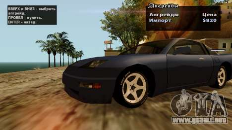 Ruedas de GTA 5 v2 para GTA San Andreas novena de pantalla