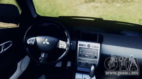 Mitsubishi Pajero 2014 Sport Dakar Offroad para GTA San Andreas vista posterior izquierda