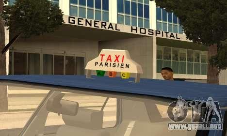 Renault 11 TXE Taxi para el motor de GTA San Andreas