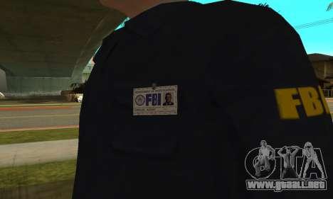 FBI HD para GTA San Andreas tercera pantalla