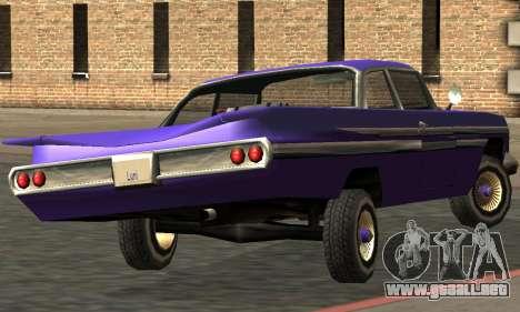 Luni Voodoo Remastered para GTA San Andreas vista hacia atrás
