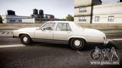 Ford LTD Crown Victoria 1987 Detective [ELS] para GTA 4 left