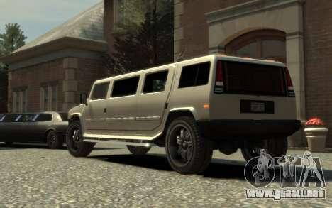 Mammoth Patriot Limousine para GTA 4 left