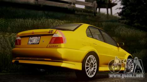 Mitsubishi Lancer Evolution VI 1999 PJ para GTA San Andreas left