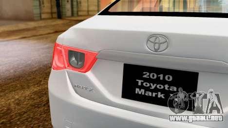 Toyota Mark X para la visión correcta GTA San Andreas