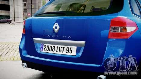 Renault Laguna III.1 Estate GT para GTA 4 visión correcta