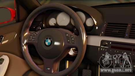 BMW M3 E46 para GTA San Andreas vista hacia atrás