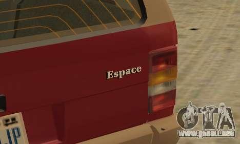 Renault Espace 2000 GTS para las ruedas de GTA San Andreas