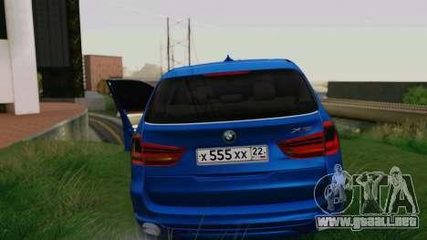 BMW X5 F15 2014 para GTA San Andreas interior
