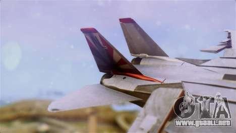 F-14A Tomcat VF-111 Sundowners High Visibility para GTA San Andreas vista posterior izquierda