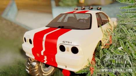 Nissan Skyline R32 Monster para GTA San Andreas vista posterior izquierda