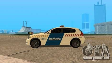 BMW 120i E87 Policía húngara para GTA San Andreas left