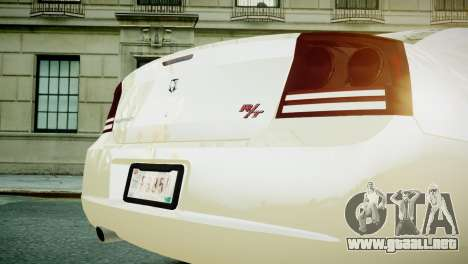 Dodge Charger RT 2006 para GTA 4 visión correcta