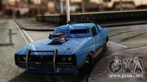 GTA 5 Imponte Dukes ODeath para GTA San Andreas vista hacia atrás