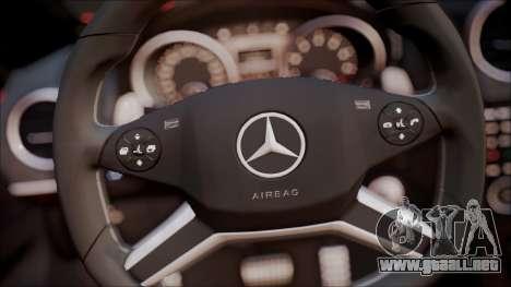 Mercedes-Benz ML 63 AMG 2014 para visión interna GTA San Andreas