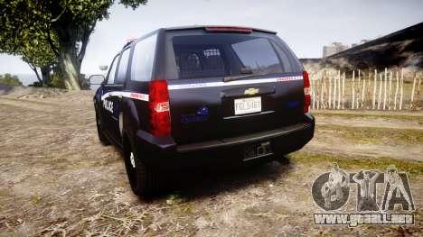 Chevrolet Tahoe SPVQ [ELS] para GTA 4 Vista posterior izquierda